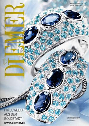 Украшения из драгоценных металлов по каталогу Diemer весна-лето 2011